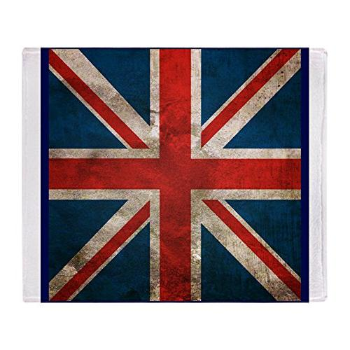CafePress UK British English Union Jack Soft Fleece Throw Bl
