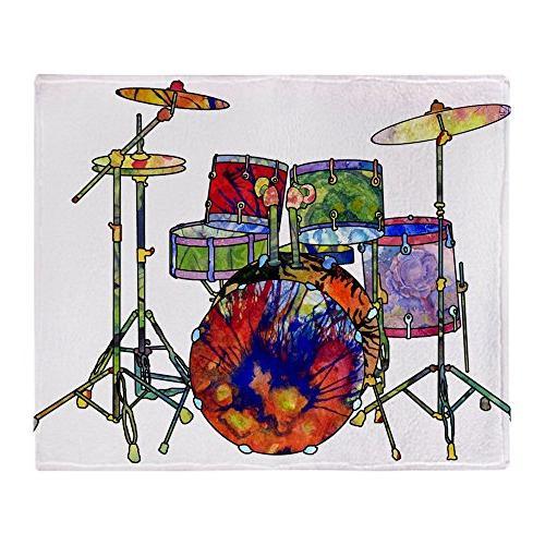 "CafePress Wild Drums Soft Fleece Throw Blanket, 50""x60"" Stad"