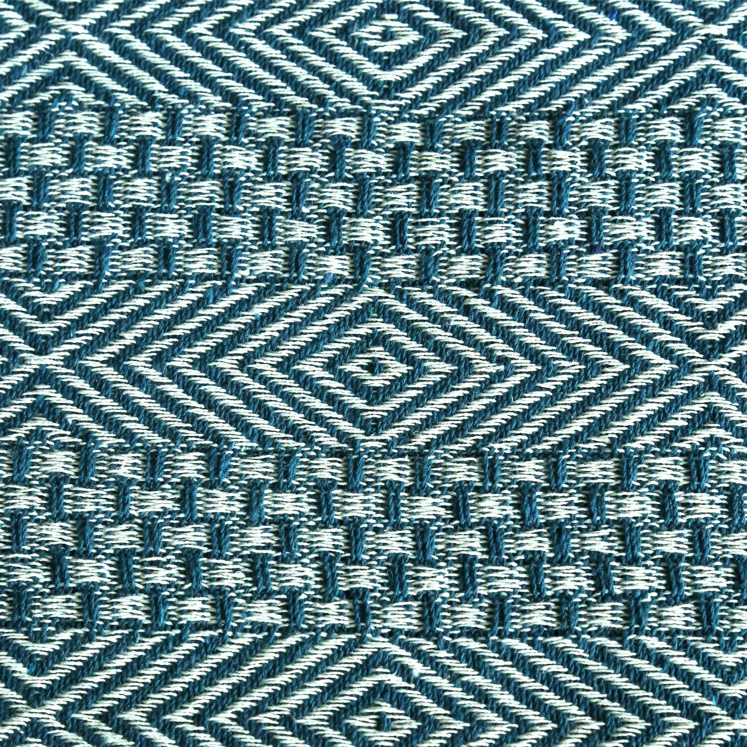Cotton Teal Throws Geometric Woven Throw Blanket 50 60 inches