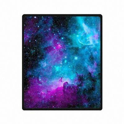 Custom printed with Galaxy Velvet Plush Throw BlanketSuper s