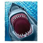 Dawhud Direct Great White Shark Fleece Throw Blanket