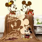 Disney Mickey Minnie Mouse Big Plush Soft Flannel Blanket Th