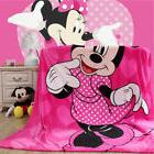 Disney Pink Red Minnie Mouse Big Plush Soft Flannel Blanket