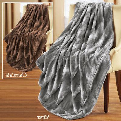 Elegant & Fur Throw Blanket, by Collections Etc