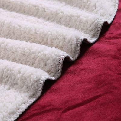 "Exclusivo 70"" Large Throw Blanket Burgundy Soft"