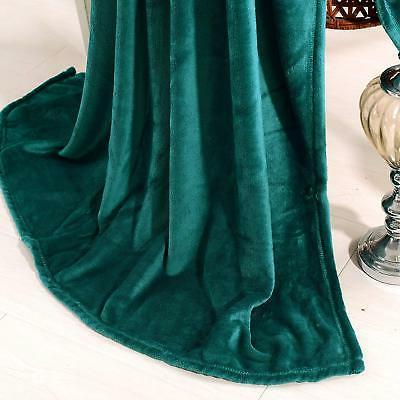 "Exclusivo Flannel Velvet Plush Throw Blanket – 50"" Teal"