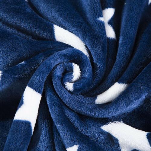 Flannel Throw Soft Bedding Queen