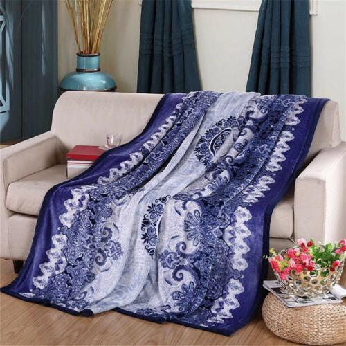 Flannel Throw Blanket Soft Bedding Bedspread
