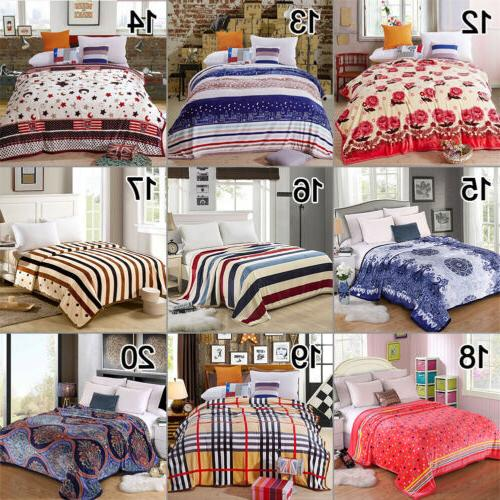 Flannel Throw Bedding Single Queen Colors