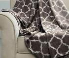 Fleece Throw Blanket Warm Soft Brown Oversized Jumbo Large K