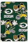 Green Bay Packers NFL Northwest Mickey Mouse Fleece Throw