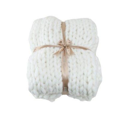 Handmade Chunky Knit Blanket Bulky HomeDecor