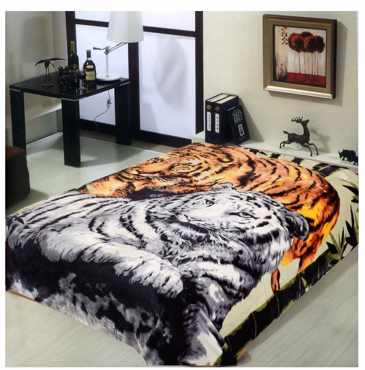 Hiyoko Tigers Animal Mink Blanket Throw Bedspread Comforter