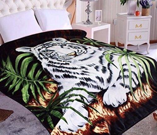 Hiyoko White Tiger Animal Mink Blanket Throw Bedspread Comfo