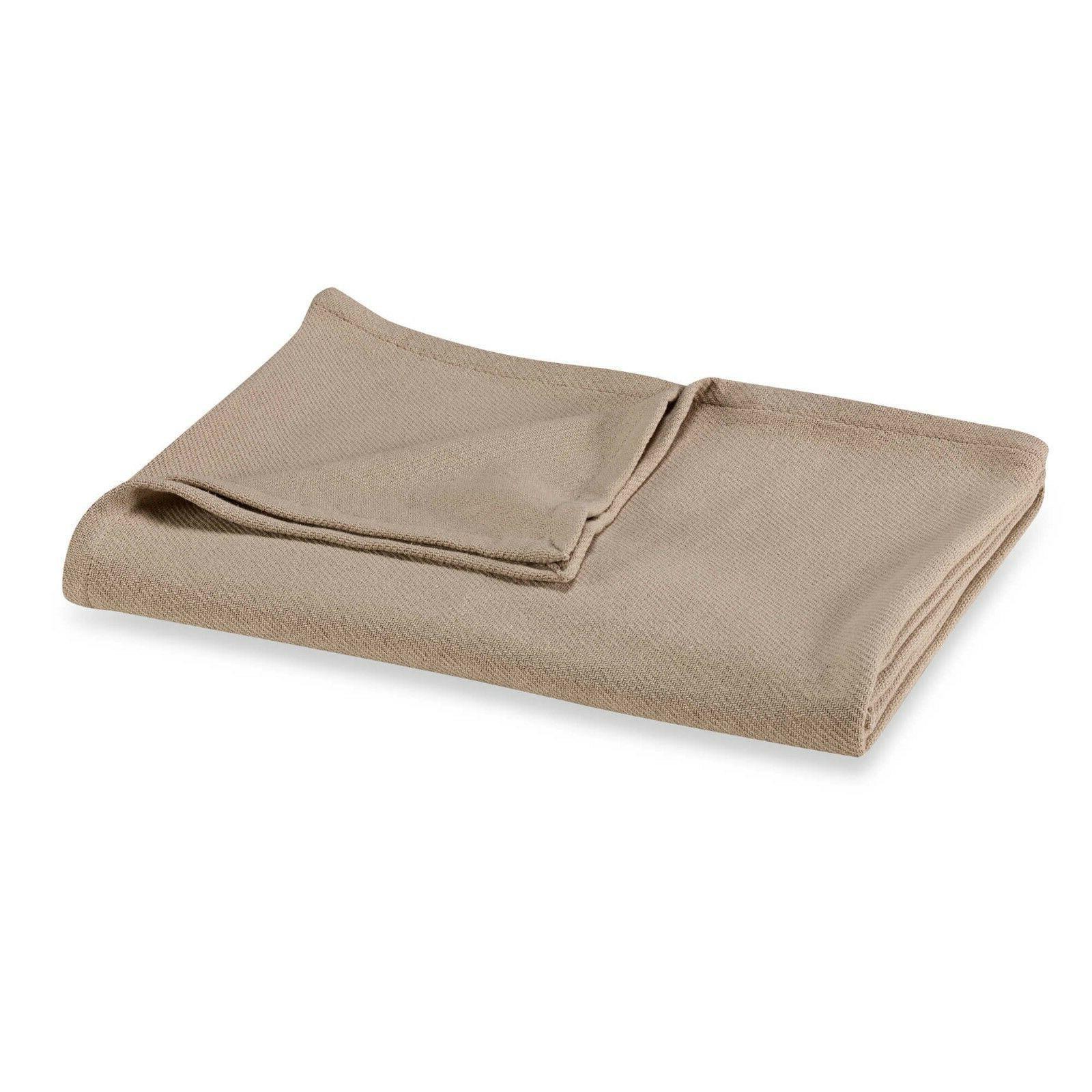 Homvare All Season Twin Super Soft Cotton Solid Twil Weave B