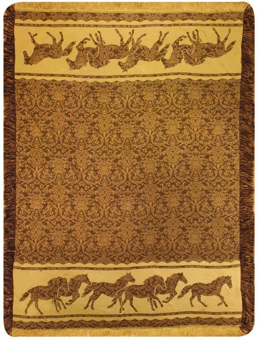 Horse Mosaic Rayon Throw by Manual Woodworkers - ATRHMS