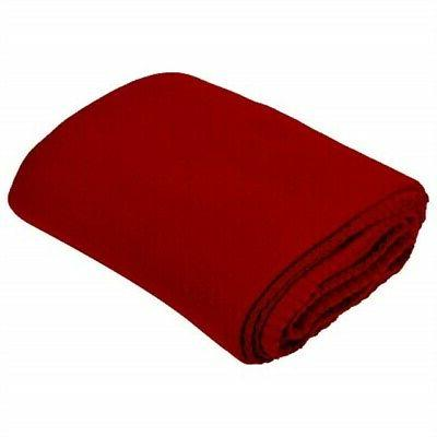 Imperial 50 x 60 Inch Ultra Soft Fleece Throw Blanket - Red
