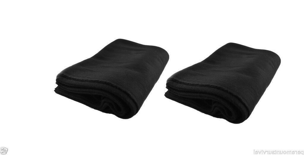 "LOT Military Style Wool Emergency Blanket 64"" 80% Wool NEW"