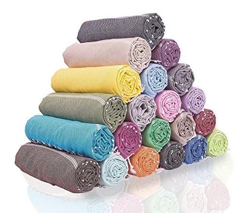 LaModaHome Turkish Towel - Chevron Style 100% Cotton - Bath