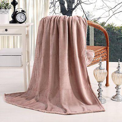 "Luxury Flannel Velvet Plush Throw Blanket - 50"" x 60""  by Ex"