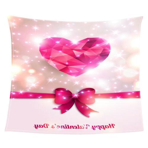 MagiDeal Flannel Blanket Sofa Throw Blanket Valentine Gift f