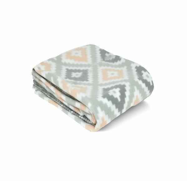 "Mainstay Fleece Throw Plaid Solid Warm Cozy X 60"" Gift"