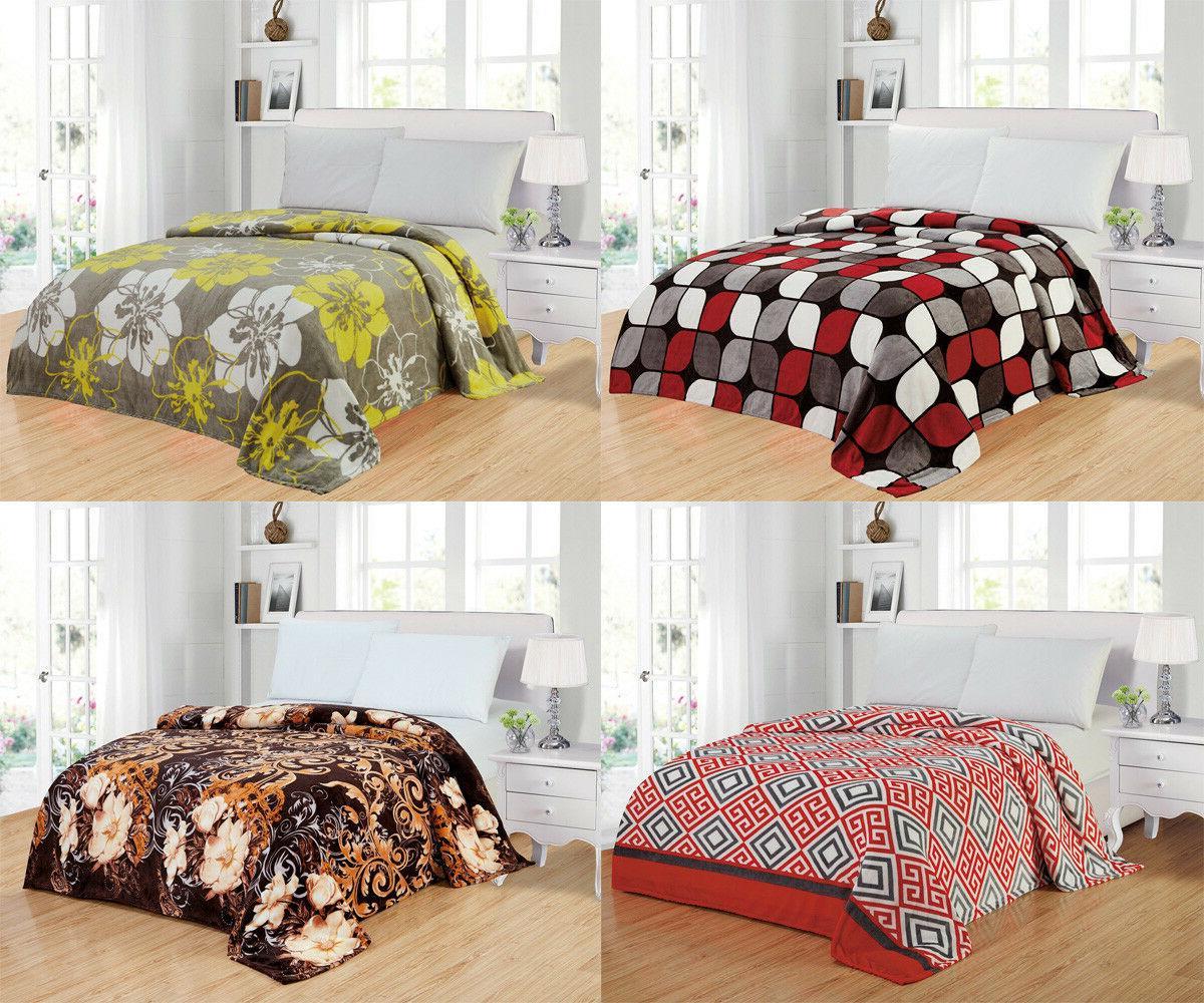 Modern Soft Lightweight Thin Throw Fleece Blanket Queen Size