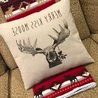 Moose Pillow and Throw Blanket Set