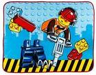 NEW LEGO CITY PREMIUM DESIGN CONSTRUCTION PANEL BLANKET BOYS
