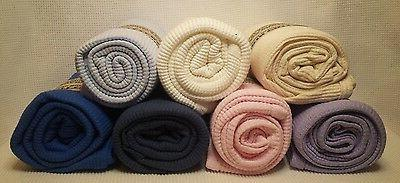 NEW Organic Cotton Waffle Weave Thermal Toddler Blanket 31x5