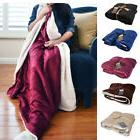 Napa® Deluxe Wool Throw blanket Super plush blanket with so