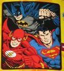 New Batman Superman Flash Plush Fleece Throw Gift Blanket Ju