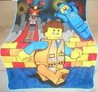 New Lego Movie Emmet The Special Plush Fleece Throw Gift Bla