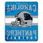 New Northwest NFL Carolina Panthers Large Soft Fleece Throw