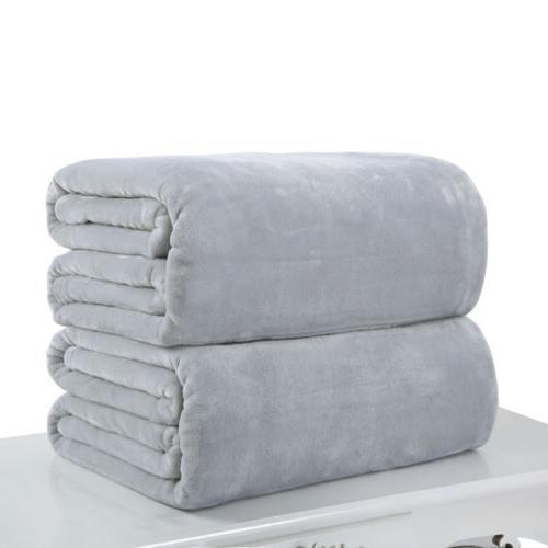 Plush Fleece Blanket Bedding Rug Sofa