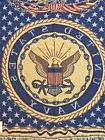 New United States Navy Throw Blanket 100% Cotton Woven Simpl