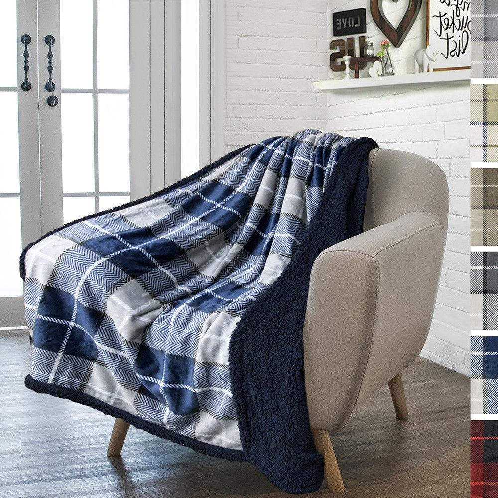 Plaid Throw Couch Sofa Bed