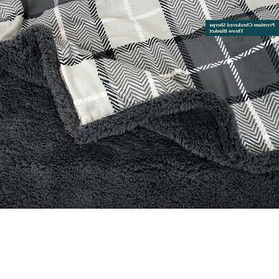 PAVILIA Blanket Sherpa Super Plush Reversible