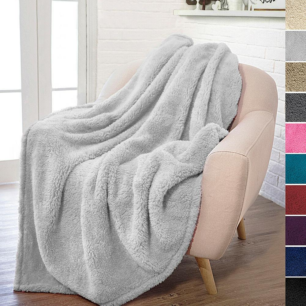 PAVILIA Plush Throw Blanket Sofa Microfiber