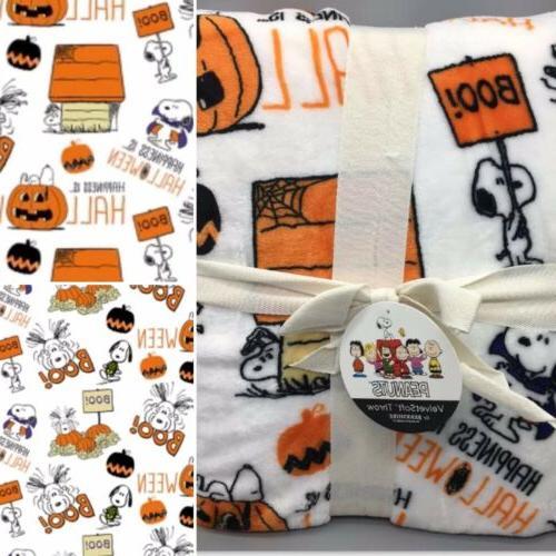 Peanuts Berkshire Halloween Blanket VelvetSoft Throw Great P