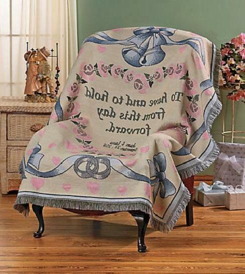 Personalized Newlywed Throw Blanket Bride & Groom Wedding Gi