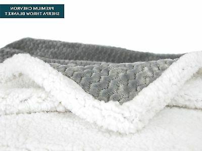 Premium Chevron Blanket by Super Soft, Cozy,