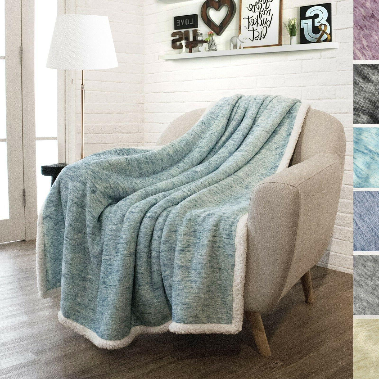Sherpa Blanket Couch Twin Bed Reversible Soft