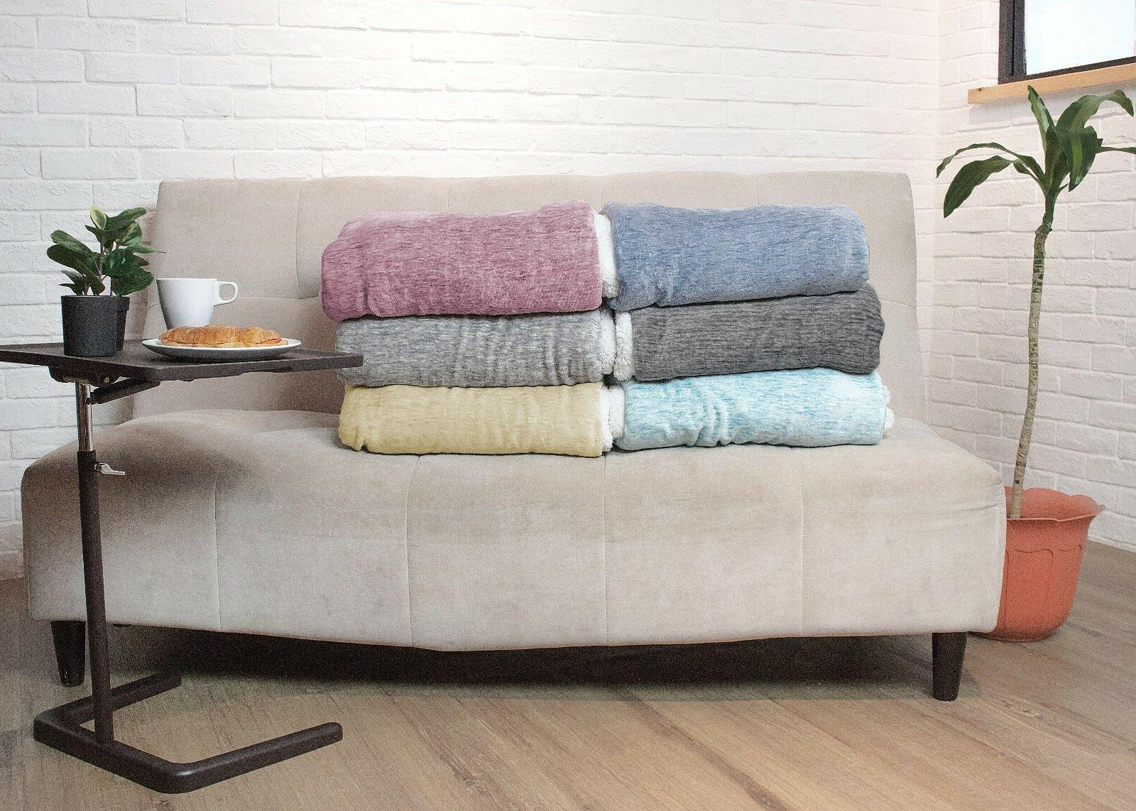 Sherpa Couch Sofa Twin Bed Reversible Soft Fleece