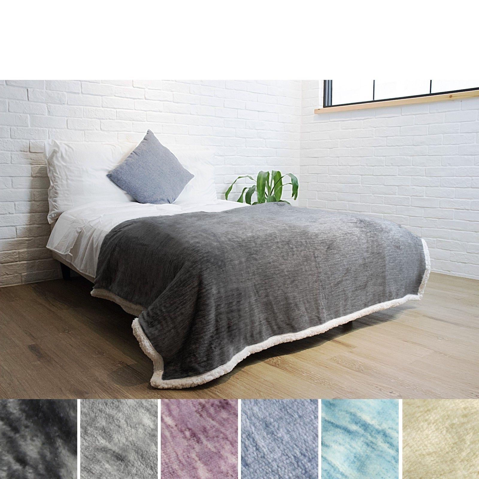 "Premium Melange Sherpa Blanket by 60"" Polyester"