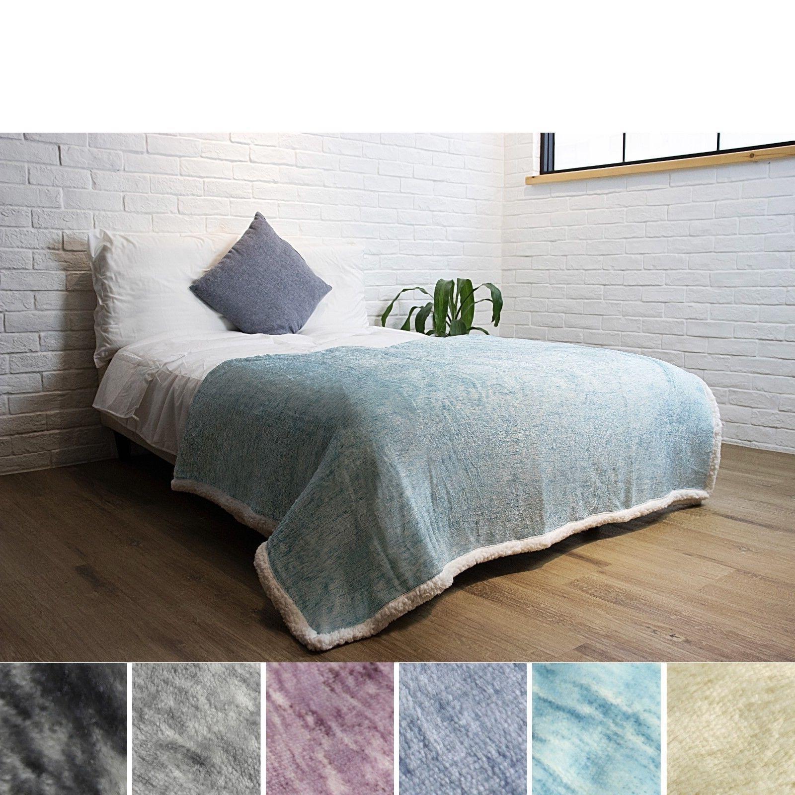 "Premium Sherpa Throw Blanket 60"" x Microfiber Polyester"