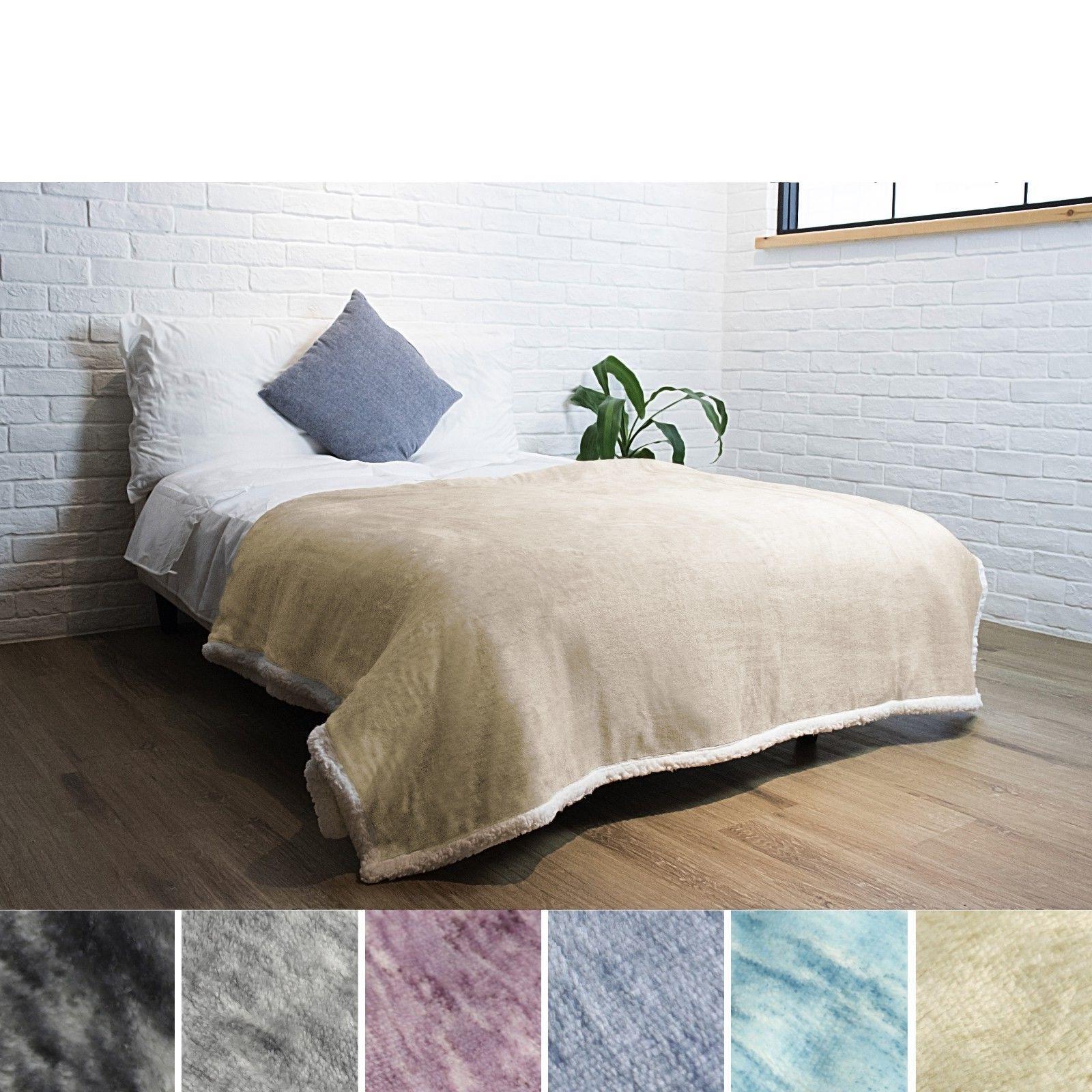"Premium Sherpa Blanket by Pavilia 60"" 80"" Polyester"