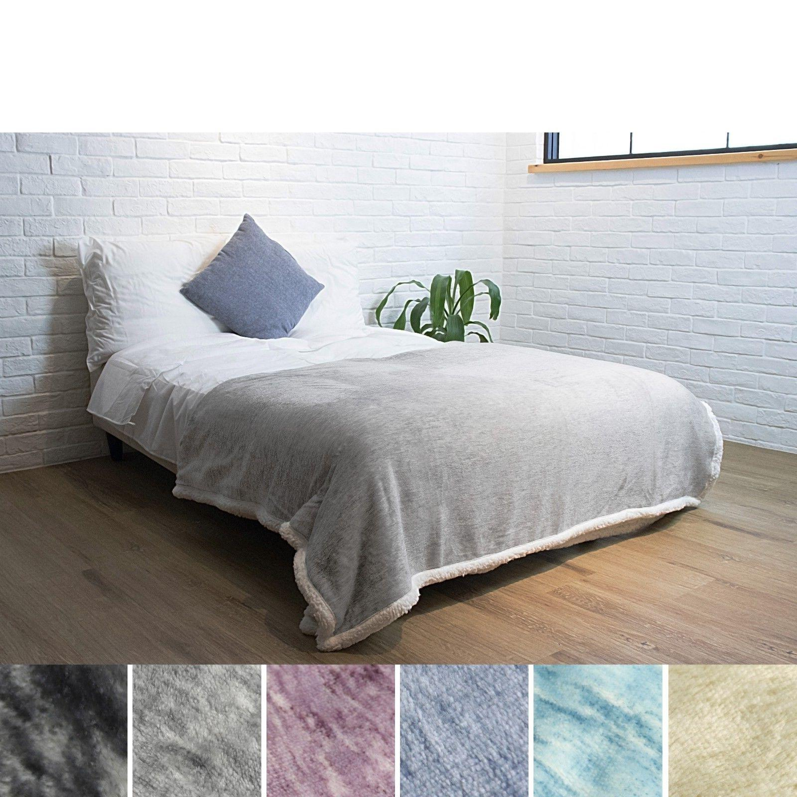 """Premium Sherpa Throw Blanket by 60"""" Polyester"""