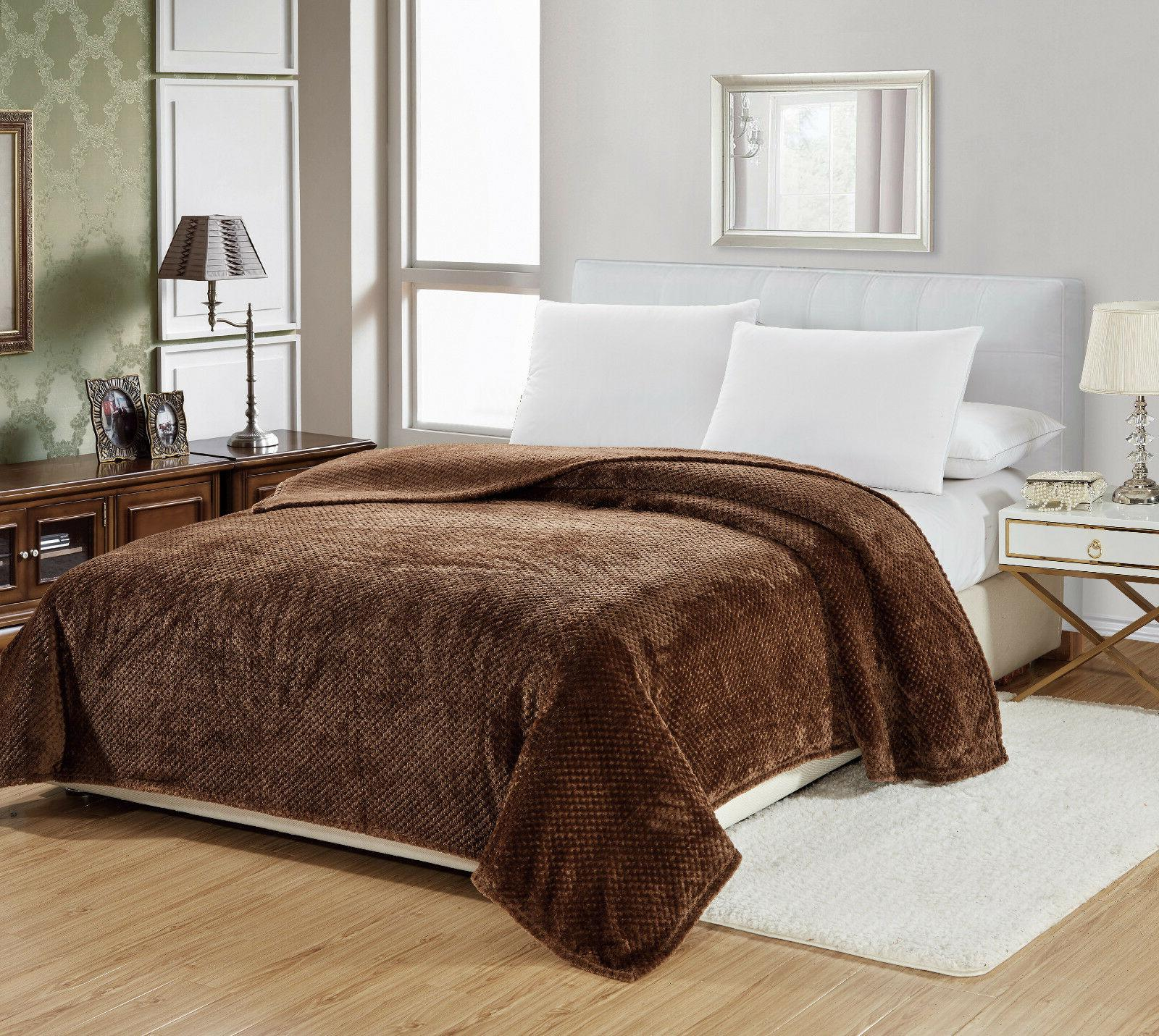 Premium Throw Blanket Assorted Colors &