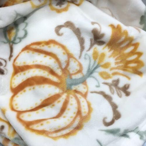 Pumpkin Paisley Throw Blanket Soft Fall Decor